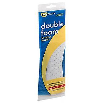 Sunmark Double Foam Comfort Insoles Womens, 1 each