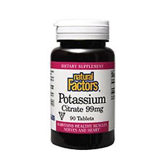 Natuurlijke factoren Kalium Citraat, 99 mg, 90 Tabs