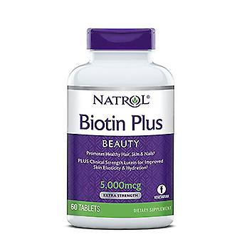 Natrol Biotin med Lurein 5 00mcg, 12,2 OZ