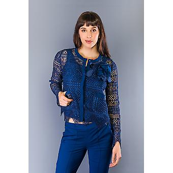 Twinset Blue Lace Light Weight Jackets