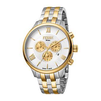 Ferre Milano Men's FM1G144M0061 Chronograph Two-Tone IP Steel Date Watch