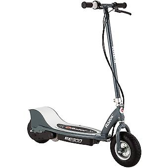 """Razor matte grey e300 24 volt electric scooter with 9"""" air-filled tires"""