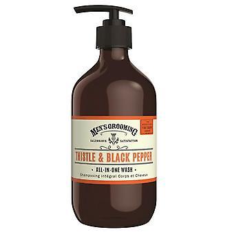 Scottish Fine Soaps Thistle & Black Pepper All-In-One Wash 500ml
