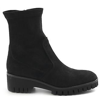 Negru Sangiorgio Glezna Boot în piele de căprioară moale