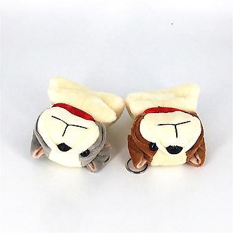 11cm Dog Pluche Gevuld, Animal Doll Soft Keychain Speelgoed