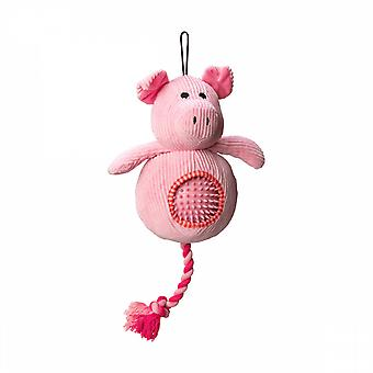 Battles House Of Paws Cord Toy With Spiky Ball - Pig