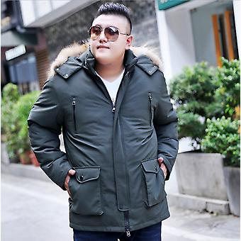 Men's Fat Man Middle-aged And Elderly Can Take Off The Liner Down Jacket Plus Fertilizer To Increase Down Jacket