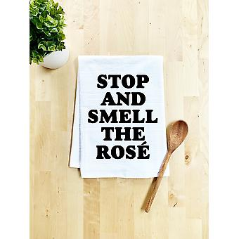Stop And Smell The Rose Printed Dish Handtuch