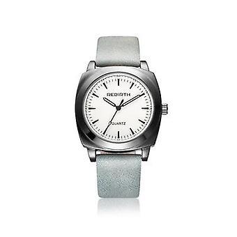REBIRTH RE042 Casual Style Waterproof women Wrist Watch Leather Strap Quartz