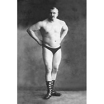 Bodybuilder with Hands on Hips Poster Print by Vintage Muscle Men