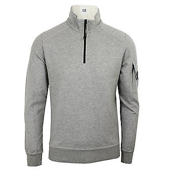 C.p. company men's grey marl light fleece funnel sweatshirt