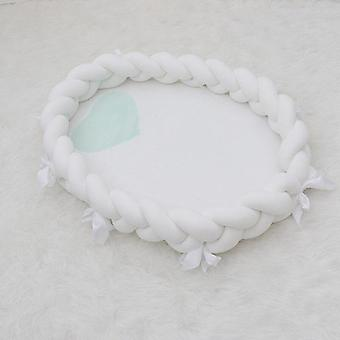 Portable Baby Bed Cribs For Newborn/elliptical Bowknot Braid Soft Nest Cot