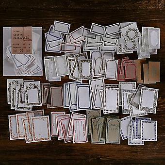 Coleção de esboços Botany Material Paper Diy Handmade Dry Kraft