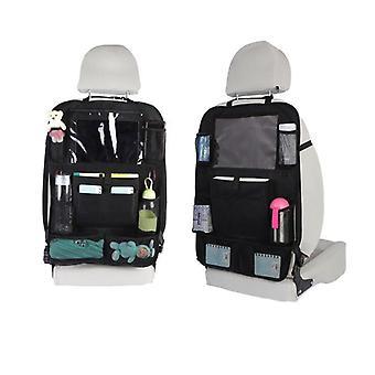 Auto Rücksitz Organizer mit Bildschirm Tablet Halter + 9 AufbewahrungTaschen Kick Mats