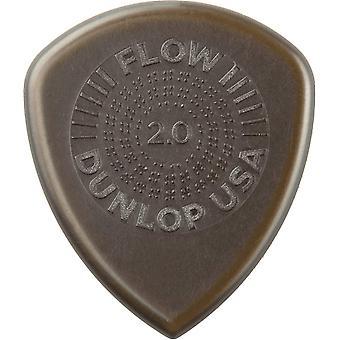 Jim dunlop 549p2.00 flux standard grip picks, 2 mm, ensemble de 6 pièces 2.0mm player pack 6 sélections