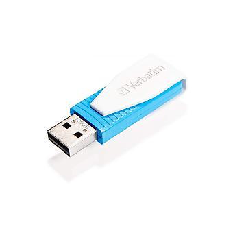 Verbatim 49812 store 'n' go swivel 8 gb usb 2.0 drive - blue 8gb