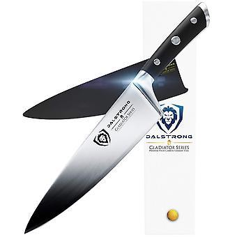 """Dalstrong kok kniv - 8"""" - gladiator-serien - smedet thyssenkrupp høj kulstof tysk stål - fuld t"""