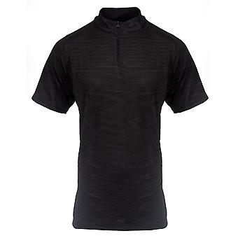 Under Armour Golf Herren 1/4 Zip Kurzarm nahtlosTop Shirt Schwarz