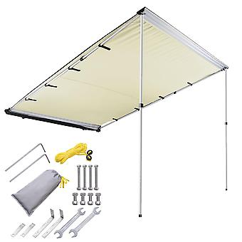 Yescom 6.6x8.2' Car Side Awning Rooftop Pull Out Tent Shelter PU2000mm UV50+ Shade SUV Outdoor Camping Travel Beige