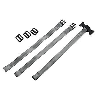 3-point Seat Belt Harness For High Chair, Seat Strap (silver Gray)