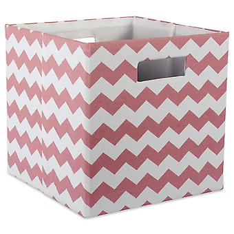 Dii Polyester Cube Chevron Rose Square