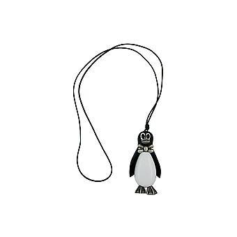 Collana Pinguino Antico-argento 90cm