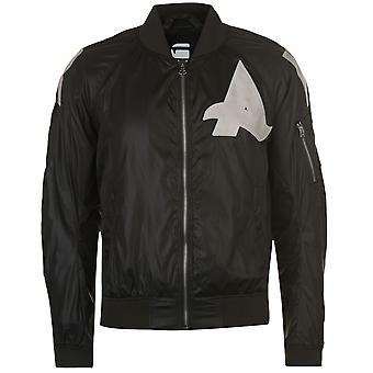 G Star Mens Afrojack Bomber Jacket Zip Mesh Lining Long Sleeve Top Outerwear