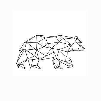 Vägg dekaler Creative geometriska Bear Wall Klistermärke Wall Dekal Wall Sticker
