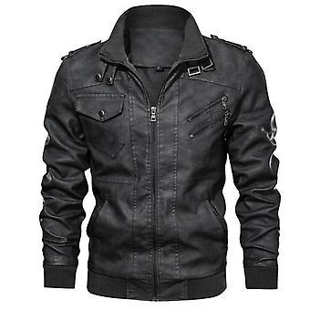 Manteaux de motards casual automne vestes de motards en cuir homme's