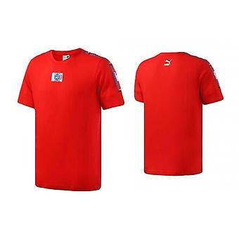 Puma 90s Retro Teippi Lyhythihainen T-paita Toppi Tee Punainen Miesten 579516 04