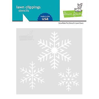 Lawn Fawn Snowflake Trio 6x6 Inch Stencil