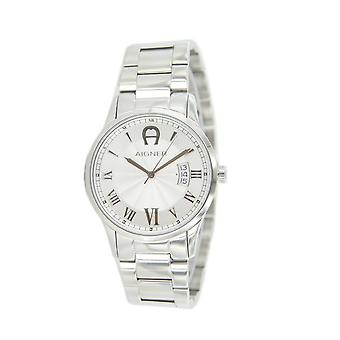 Aigner mens watch wristwatch Modica silver A32753