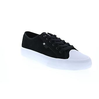 DC Manual Rt S  Mens Black Canvas Skate Inspired Sneakers Shoes
