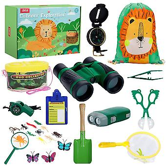 Lbla outdoor explorer kit 27pcs,toys for 3 4 5 6 7 year olds boys girls kids bug catcher toys with b