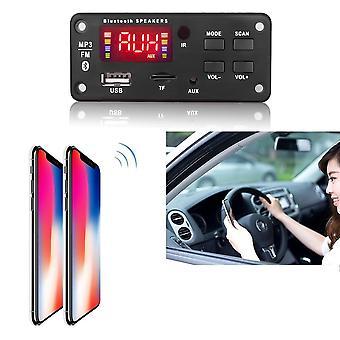 12v Mp3 Wma Wireless Bluetooth 5.0 Decoder Board - Car Audio Module Usb Fm Tf