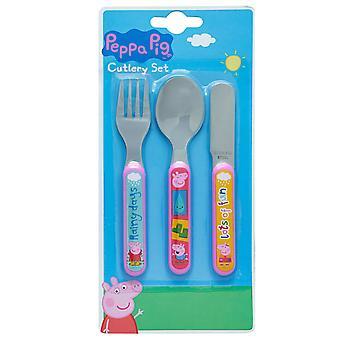 Peppa Pig Childrens/Kids Cutlery Set