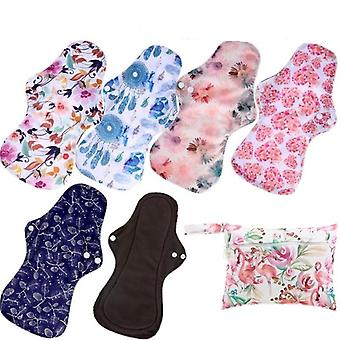 Heavy Flow Menstruele Pads, Herbruikbare Bamboe Houtskool Mum Cloth