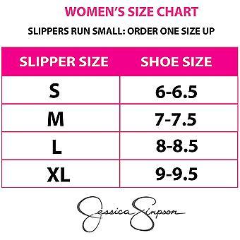 Jessica Simpson Femme & Satin Ballerina Yoga Slipper avec Arc
