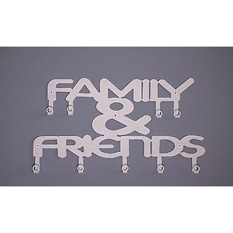 Familie & Freunde Mantel Aufhänger weiß Metall Farbe, L47xP0.20xA29 cm