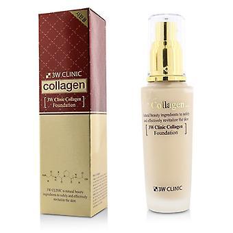 3W Clinic Collagen Foundation - # 21 (Transparent Beige) 50ml/1.67oz