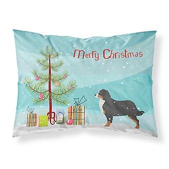 Caroline's Treasures Christmas Tree Bernese Mountain Dog Merry Fabric Federa standard Bb2937Pillowcase