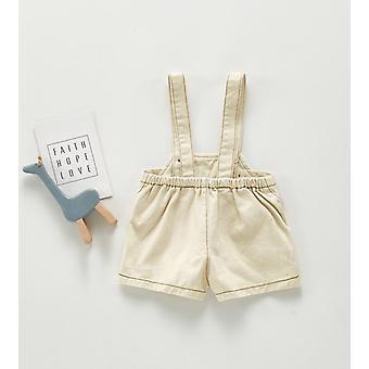 Őszi baby overall, farmer kezeslábas, rövidnadrág