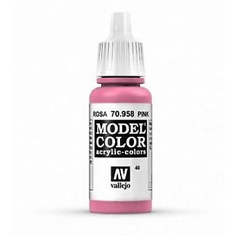 Vallejo Model Color 17ml Acrylic Paint - 958 Pink