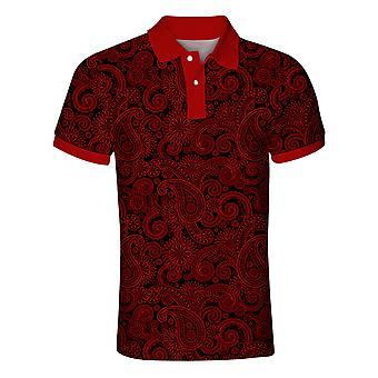 Allthemen Men's Kuvio Tyylikäs Poolo Lyhythihainen Paita Golf T-paita