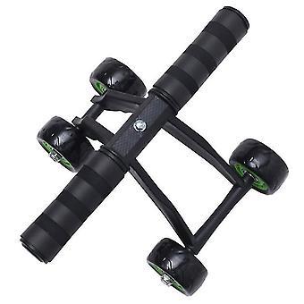 Firehjuls abdominal hjul abdominal muskel hjul bærer stille roller abdomen hjul trening abdominal muskel trening enhet
