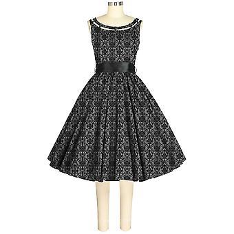 Chic Star 1950s Summer Dress In Gray