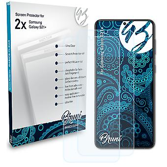 Bruni 2x Screen Protector compatible with Samsung Galaxy S21+ Protective Film