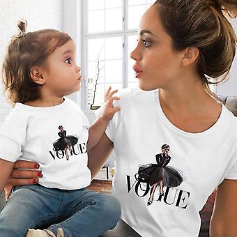 Tricou cu femei și copii, tricou asortat cu familia