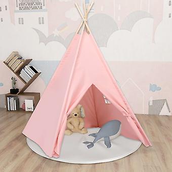 vidaXL kids teepee tent with bag peach skin pink 120x120x150 cm