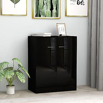 vidaXL Sideboard high gloss black 60 x 30 x 75 cm chipboard